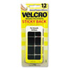 VEK90072 Sticky-Back Hook and Loop Square Fasteners on Strips, 7/8