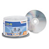 VER94691 CD-R Discs, 700MB/80min, 52x, Spindle, Silver, 50/Pack VER 94691