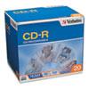 VER94936 CD-R Discs, 700MB/80min, 52x, w/Slim Jewel Cases, Silver, 20/Pack VER 94936