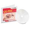 VER95161 CD-RW Disc, 700MB/80min, 4x-12x, w/Slim Jewel Case, Silver VER 95161