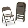 VIR16213M Metal Folding Chairs, Mocha, 4/Carton VIR 16213M