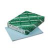 WAU82321 Exact Vellum Bristol Cover Stock, 67 lbs., 8-1/2 x 11, Blue, 250 Sheets WAU 82321