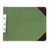 WLJ27826 Canvas Sectional Post Binder, 11 x 8-1/2, 2-3/4 Center, Green WLJ 27826