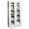 Alera Assembled Storage Cabinet with See-Through Doors
