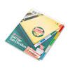 WLJ54124 Gold Pro Insertable Tab Index, Multicolor 5-Tab, Letter, Buff Sheets WLJ 54124