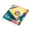WLJ54130 Gold Pro Insertable Tab Index, Multicolor 8-Tab, Letter, Buff Sheets WLJ 54130