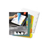 WLJ55061 View-Tab Transparent Index Dividers, 5-Tab, Round, Letter, Assorted, 5/Set WLJ 55061