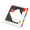 WLJ55208 Oversized Reinforced Insertable Index, Multicolor 8-Tab, 9-1/4 x 11, White WLJ 55208