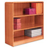 ALEBCR33636MO Radius Corner Wood Veneer Bookcase, 3-Shelf, 35-3/8w x 11-3/4d x 36h, Medium Oak ALE BCR33636MO