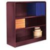 ALEBCR33636MY Radius Corner Wood Veneer Bookcase, 3-Shelf, 35-3/8w x 11-3/4d x 36h, Mahogany ALE BCR33636MY