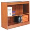 ALEBCS23036MO Square Corner Wood Veneer Bookcase, 2-Shelf, 35-3/8w x 11-3/4d x 30h, Medium Oak ALE BCS23036MO