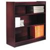 ALEBCS33636MY Square Corner Wood Veneer Bookcase, 3-Shelf, 35-3/8w x 11-3/4d x 36h, Mahogany ALE BCS33636MY
