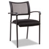 ALEEK43ME10B Eikon Series Stacking Mesh Guest Chair, Black, 2/Carton ALE EK43ME10B