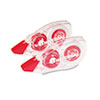 UNV75602 Correction Tape with Two-Way Dispenser, Non-Refillable, 1/5