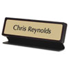 USS91200 Custom Desk/Counter Sign, 2x8, Black Designer Frame USS 91200