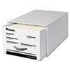 UNV85301 Heavy-Duty Storage Box Drawer, Legal, 17 1/4 x 25 1/2 x 11, White, 6/Carton UNV 85301