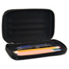 AVT67000 Large Soft-Sided Pencil Case, Fabric with Zipper Closure, Black AVT 67000
