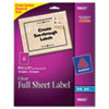 AVE18665 Easy Peel Mailing Labels for Inkjet Printers, 8-1/2 x 11, Clear, 10/Pack AVE 18665