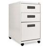 ALEPA532823LG Three-Drawer Mobile Pedestal File, 16w x 23-1/4d x 28-1/2h, Light Gray ALE PA532823LG