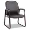 ALEGE43LS10B Genaro Guest Chair, Black Leather, Sled Base ALE GE43LS10B