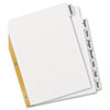 AVE23078 Big Tab Write-On Dividers w/Erasable Laminated Tabs, White, Set of 8 AVE 23078