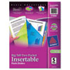 AVE11906 Big Tab Dividers, Two Slash Pockets, 5-Tab, Assorted, Pack AVE 11906