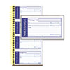 ABFSC1153WS Write 'n Stick Phone Message Pad, 2 3/4 x 4 3/4, Two-Part Carbonless, 200 Forms ABF SC1153WS