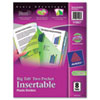 AVE11907 Big Tab Dividers, Two Slash Pockets, 8-Tab, Assorted, 1 Set AVE 11907