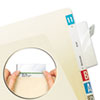 TAB58385 Protector, Top Tab Folder, 3 1/2 x 2, Clear, 500/BX TAB 58385