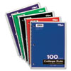 TOP65161 Wirebound 1-Subject Notebook, College Rule, 11 x 8-1/2, White, 100 Sheets/Pad TOP 65161