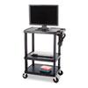 Safco Three-Shelf Height Adjustable AV Cart