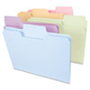 SMD11961 SuperTab File Folders, 1/3 Cut Top Tab, Letter, Assorted Colors, 100/Box SMD 11961