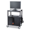 Safco AV Adjustable Cart With Cabinet