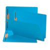 SMD25040 Two-Inch Capacity Fastener Folders, Straight Tab, Letter, Blue, 50/Box SMD 25040