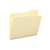 SMD10385 Guide Height File Folders, 2/5 Cut Right Top Tab, Letter, Manila, 100/Box SMD 10385
