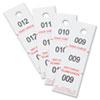 SAF4249NC Three-Part Coat Room Checks, Paper, 1 1/2 x 5, White, 500/Pack SAF 4249NC
