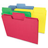SMD11987 SuperTab Colored File Folders, 1/3 Cut, Letter, Assorted, 100/Box SMD 11987