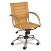 SAF3456CM Flaunt Series Mid-Back Manager's Chair, Camel Microfiber/Chrome SAF 3456CM