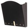 SAF5654BL HIPPA-Compliant Wall Pocket, Letter, Black, 12 x 3 x 10 3/4 SAF 5654BL
