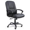 SAF3500BL Serenity Big & Tall High-Back Chair, Black Leather SAF 3500BL