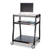 Safco Three-Shelf Wide Base AV Cart
