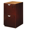 MLNMPFF28MC Mira Series File/File Desk Pedestal, 15w x 28d x 27¾h, Medium Cherry MLN MPFF28MC