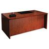 MLNMDKS3672MC Mira Series Wood Veneer Straight Front Desk, 72w x 36d x 29½h, Medium Cherry MLN MDKS3672MC