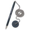 MMF28904 Secure-A-Pen Ballpoint Counter Pen with Base, Black Ink, Medium MMF 28904