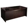 MLNMDK3672ESP Mira Series Wood Veneer Bow Front Desk, 72w x 42d x 29½h, Espresso MLN MDK3672ESP