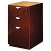 MLNMPBBF22MC Mira Series Box/Box/File Credenza Pedestal, 15w x 28d x 27¾h, Medium Cherry MLN MPBBF22MC