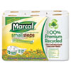 Marcal Small Steps 100% Premium Recycled Double Roll Bathroom Tissue
