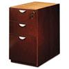 MLNMPBBF28MC Mira Series Box/Box/File Desk Pedestal, 15w x 28d x 27¾h, Medium Cherry MLN MPBBF28MC