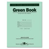 ROA77509 Green Books Exam Books, Stapled, Wide Rule,11 x 8 1/2, 8 Sheets/16 Pages ROA 77509