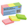 RTG23701 Self-Stick Notes, 1 1/2 x 2, Neon, 12 100-Sheet Pads/Pack RTG 23701